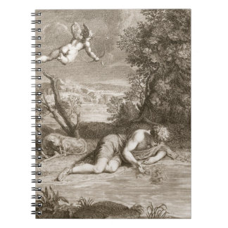 Narcissus Transformed into a Flower, 1730 (engravi Notebook