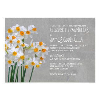 Narcissus Wedding Invitations Personalized Invitations