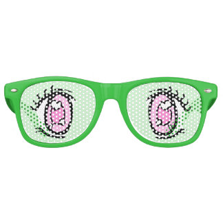Narcolepsy Anime Eye Glasses, Green Retro Sunglasses