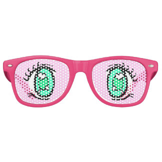 Narcolepsy Anime Eye Glasses, Pink