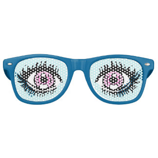 Narcolepsy Eye Glasses, Blue Retro Sunglasses