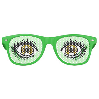 Narcolepsy Eye Glasses, Green Retro Sunglasses