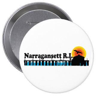 Narragansett. 10 Cm Round Badge