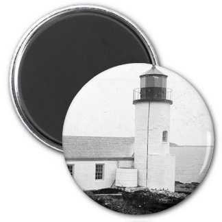 Narraguagus Lighthouse 6 Cm Round Magnet