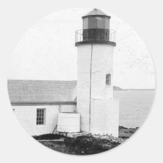 Narraguagus Lighthouse Round Sticker
