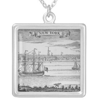 Narrative and Critical History of America' Silver Plated Necklace