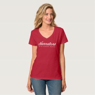 Narrators Give Good Aural Hanes v-neck T web T-Shirt