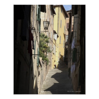 Narrow Alley, Siena, Italy Poster