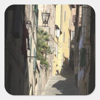 Narrow Alley, Siena, Italy Square Sticker