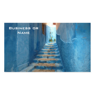 Narrow Blue Stairway in Morocco Pack Of Standard Business Cards
