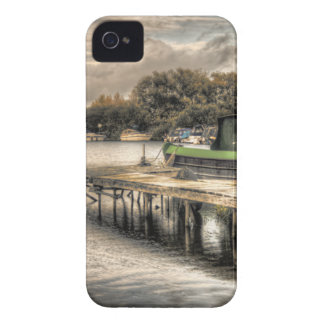 Narrow Boat and Jetty Blackberry Bold case