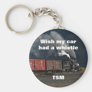 Narrow Gauge Steam Engine Monogram Gift Basic Round Button Key Ring