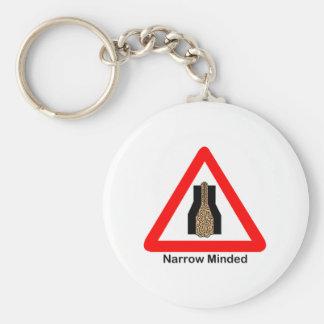 Narrow Minded Basic Round Button Key Ring