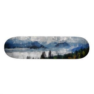 Narrow path on a hill 20 cm skateboard deck