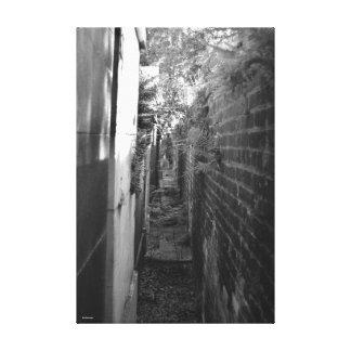 Narrow pathway canvas print