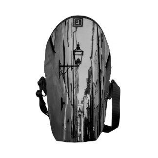 Narrow street in Stockholm Messenger Bags