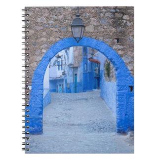 Narrow Street Of Chefchaouen Spiral Notebook