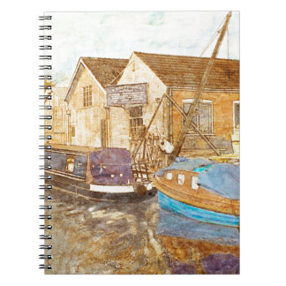 Narrowboat And Boat Builders Yard Spiral Notebook