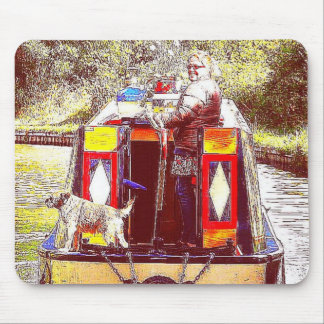 Narrowboat Henry, Coventry Canal, Nuneaton. Mouse Pad
