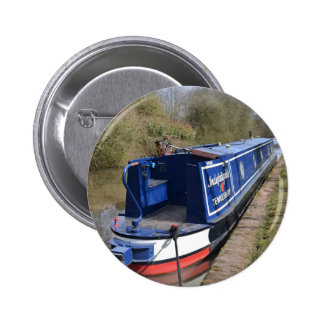 Narrowboat Indefatigable 6 Cm Round Badge