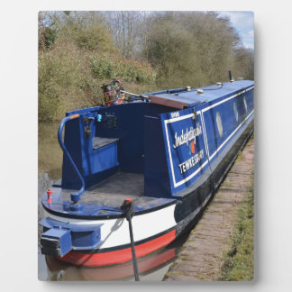 Narrowboat Indefatigable Display Plaque
