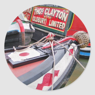 NARROWBOATS CLASSIC ROUND STICKER