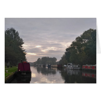 Narrowboats On The Canal Greeting Card