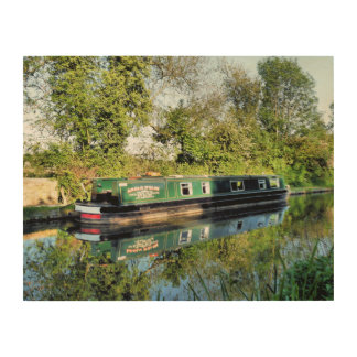 NARROWBOATS WOOD PRINT