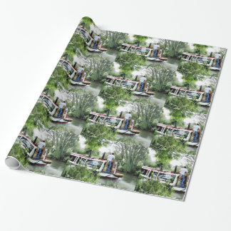 NARROWBOATS WRAPPING PAPER