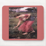 Narsissus Picking Flowers Mousepad