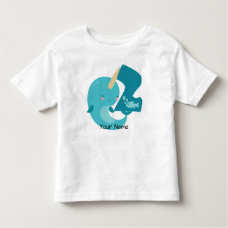 Narwhal 2nd Birthday Toddler T-Shirt