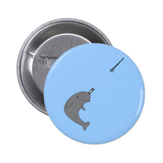 Narwhal 6 Cm Round Badge