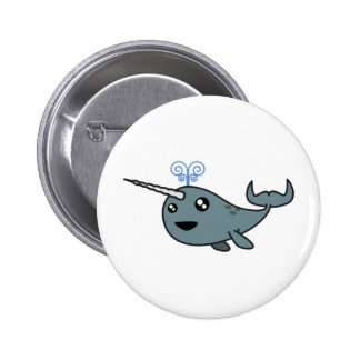 Narwhal! 6 Cm Round Badge