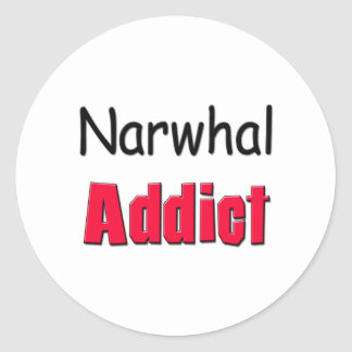 Narwhal Addict Classic Round Sticker