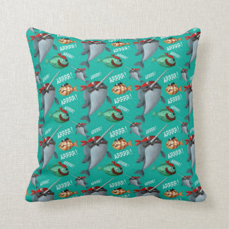 Narwhal and Fish Pirate Pattern Cushion