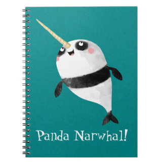 Narwhal and Panda in One Spiral Notebook