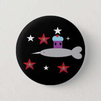 Narwhal and the Space cupcake 6 Cm Round Badge