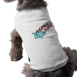 Narwhal Bacon Retro Logo Doggie Tee Shirt