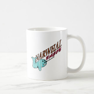 Narwhal Bacon Retro Logo Coffee Mugs