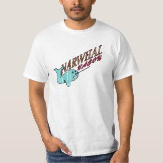 Narwhal Bacon Retro Logo Tee Shirt
