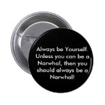 Narwhal Button