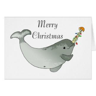 Narwhal Christmas Card