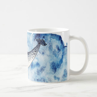 Narwhal in  a splash of watercolour coffee mug