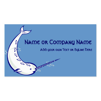 Narwhal on Sea Blue Pack Of Standard Business Cards