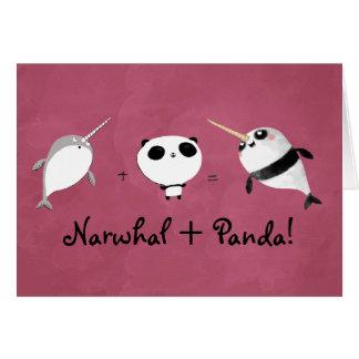 Narwhal plus Panda! Card