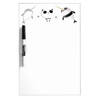 Narwhal plus Panda! Dry Erase Board