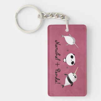 Narwhal plus Panda! Key Ring