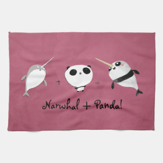 Narwhal plus Panda! Tea Towel