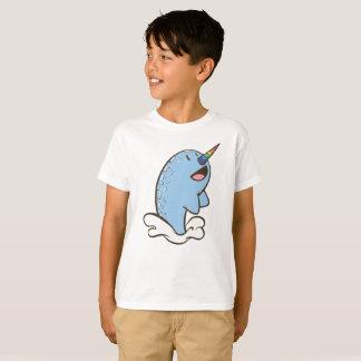 Narwhal Splash Cartoon Graphic Kids T-Shirt