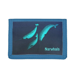 Narwhal Trifold Wallets